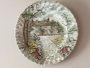 Country Cottage British Anchor china plate