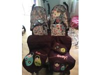 Cosatto Hello Dolly double buggy. Used. Good condition.