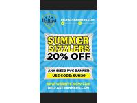 20 % off All PVC Banners