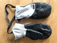 Leather women's ski or snowboard gloves S