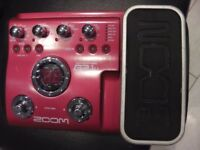 Zoom B2.1U Bass Effects Pedal with USB output.