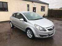 2007 Corsa 1.2 SXI, 6 months warranty, credit/debit cards welcome