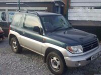 02 MITSUBISHI SHOGUN PININ - LOW MILES 62K - LONG MOT - PX WELCOME