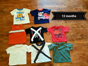 Boys t-shirts 9 months up to 24 months