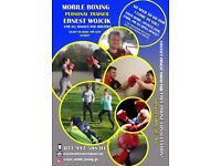 MOBILE BOXING PERSONAL TRAINER - GET FIT & LEARN BOXING IN YOUR HOME, PARK, GARDEN, GYM ETC.