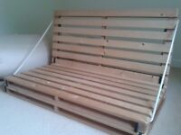 High Quality Pine Double Futon Base (no mattress) - can deliver locally