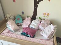 Baby girls baby grows from next (up to 1month)