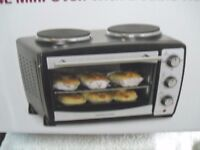 Andrew James mini oven and grill with double hot plates