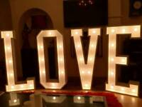 Led love letters for hire 4ft