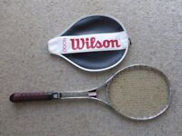 Wilson historic metal tennis raquet in good condition