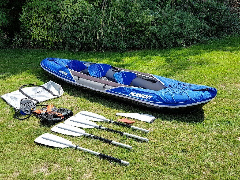 Inflatable Kayak Sevylor Hudson 2 1 Used Only 3 Times