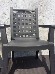 Durable Recycled Plastic Patio Chairs GROSFILLEX