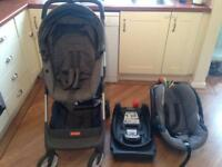 Stokke travel system including isofix base