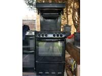 Black gas cooker eye level grill delivered today