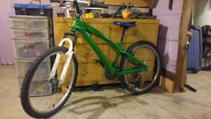 Green 24inch mountain bike