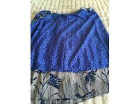 Brand new, never worn. Vintage boho sari bo Ho wrap round skirt free size