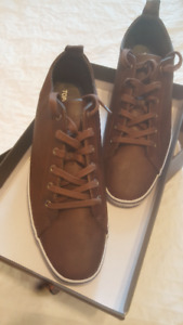 TOPMAN Brown Leather Tennis Shoes