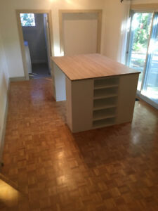 Desk / Work Table / Kitchen  Island or Craft Table with Storage