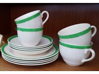 Vintage cups and saucers with cake plates. Wedding idea?