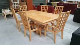 Massive extendable dining table and 6 chairs can deliver 07808222995