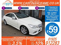2010 MERCEDES E350 3.0 CDI SPORT GOOD / BAD CREDIT CAR FINANCE FROM 59 P/WK