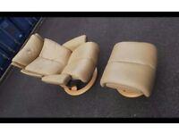 Ekornes Stressless Magic Recliner Armchair with Footstool