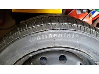 New Continental tyre and rim