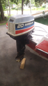 20hp Evinrude Outboard Engine