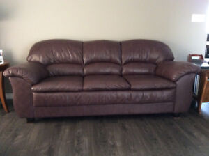 Leather Couch, Loveseat & Chair