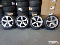 """19"""" Silver TTRS Style Alloy Wheels & Tyres for an Audi A4 TT Etc"""