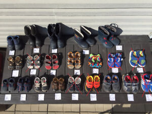 **BOYS various SHOES, SANDALS, BOOTS lot – Many sizes**