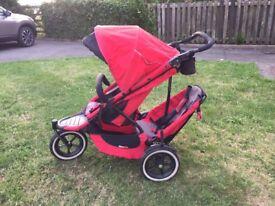 Phil & Teds Sport - all terrain tandem buggy / pushchair / stroller