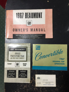 1967 beaumont convertible owner's manual