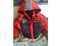 Disney Shop Lighetening McQueen Winter coat age 5/6