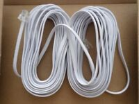 2 X ROUTER CABLES X 10 METRES.( SELLING PAIR) FOR ONLY £ 5