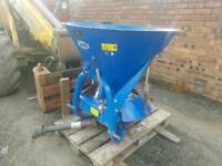Tractor pto driven Fleming fertiliser spreader
