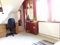 A huge double room available for a single person in lovely house share in Morden near Wimbledon