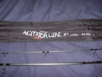 Whychwood agitator predator spinning/lure 8ft rod 20-60grm rod NEW