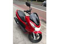Honda pcx 125 red metallic