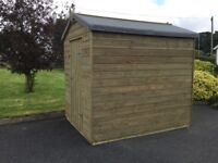 New 8x6 20mm pressurised treated timber shed