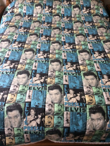 HAND MADE DOUBLE QUEEN SIZE ELVIS QUILT