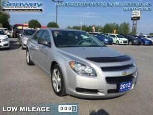 2012 Chevrolet Malibu LS  - OnStar -  SiriusXM - $91.31 B/W - Lo