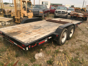Equipment trailer. Car trailer