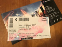 Lost Village weekend camping ticket - no name on face