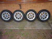 8 spoke Empi alloy wheels