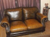 THOMAS LOOYD VICTORIN LEATHER 2 SEATER & 3 SEATER. SOFAS.