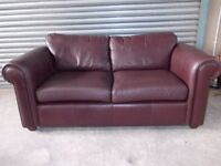 Large Next Leather 2-seater Sofa