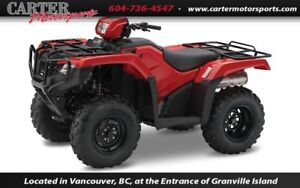 2017 Honda TRX500 Foreman Manual Shift - Red - SAVE $1000