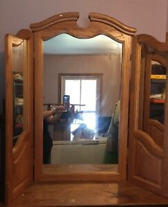 Solid Oak Mirror - Havelock