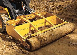 Skid steer leveler, grader, roller attachment. Half price of new